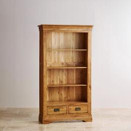 Tủ sách 4 ngăn French gỗ sồi IBIE HBFRE4O 90 x 40 x 180 cm (Nâu gỗ tự nhiên)