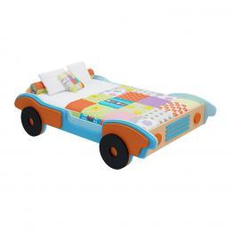 Giường trẻ em ô tô số 3 GD10 180 x 114 x 45 cm (Xanh dương phối cam)