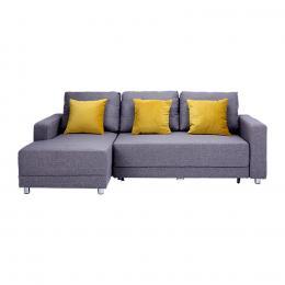 Sofa giường chữ L góc phải Juno Casey 227 x 143 x 83 cm (Xám) (Màu sắc: Xám)