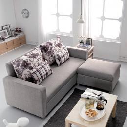Sofa giường góc khung sắt Fashion Home AG-128 (Kèm 2 gối chữ nhật, 1 đôn vuông)