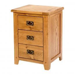 Tủ đầu giường 3 hộc Rustic gỗ sồi IBIE BCRUS3O 48 x 40 x 66 cm