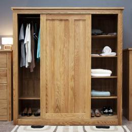 Tủ quần áo cửa lùa 2 khoang gỗ sồi IBIE SDR2O 1.6m
