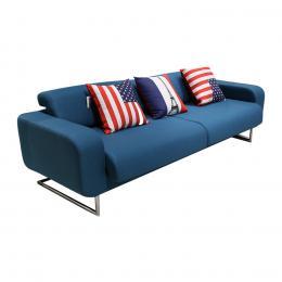 Sofa vải 3 chỗ Juno Easter 232 x 90 x 70 cm (Xanh dương) (Màu sắc: Xanh dương)