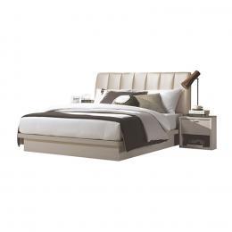 Bộ giường Bonnete 180cm + Tủ đầu giường Jang In IBD-0372KVJLT (Be)